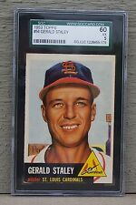 1953 Topps Baseball #56 Gerald Staley SGC 60 - St. Louis Cardinals