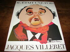 JACQUES VILLERET - MINI POSTER COULEURS PAR BLACHIER !!