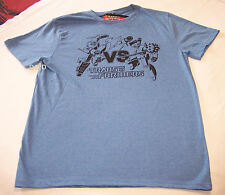 Transformers Battle Mens Blue Printed T Shirt Size S New