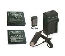 Two Batteries BP-DC10-E BP-DC10-U + Charger for Leica D-LUX 5 E D-LUX5E DLUX5E