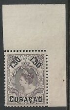Curacao stamps 1901 Nvph 28 Perforation Fault Mnh Vf