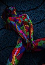Nude 2 100x142cm Dynamic Dots canvas print famous artist limited edition