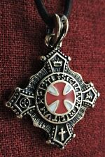 Knights Templar Cross Pendant Order Knight Medieval SCA Gold Plated Necklace