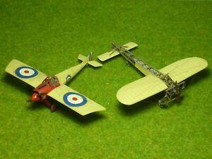 Morane-Saulnier N & Blériot XI 2x 1/72 kits built & finished for display