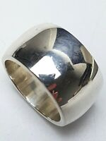 Vollmassiver 1,3 cm breiter 925 Sterling Silber Bandring RG 56/17,8 mm A 353
