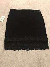 forever 21 Black Skirt with Lace Size L BNWT