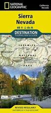 National Geographic Destination Travel Map California CA Sierra Nevada 1020627