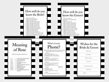 Print Yourself Black and White Stripes, Chic Bridal Shower Games BS19