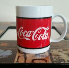 Vintage 1996 Collectible Coca-Cola Large Ceramic Coffee Cup Mug- Coke