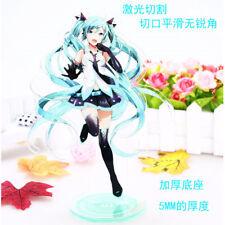Hatsune Miku Vocaloid Double Face Anime Figure Toy Acrylic Plastic Doll 21cm