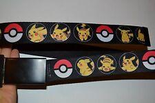 Pokemon Con Hebilla Cinturón Talla única adulto Totalmente Ajustable 3.8cm