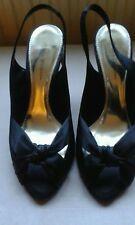 Nicholas Millington Black Satin Shoes size 7