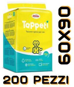 TAPPETINI ASSORBENTI PER CANI 60X90 RECORD 200 PEZZI  TRAVERSE PANNOLONI