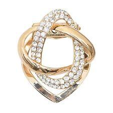 Crystal Pearl Silk Scarf Ring Clip Buckle Holder Brooch Scarf Jewelery -UKSELLER