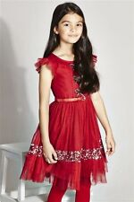 NEW NEXT Signature Red Embellished Dress Age 8 Party BNWT 7-8yrs