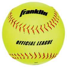 MLB Official League Synthetic Cork Softball with Mesh Bag (4-Piece), Yellow, 12-