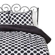 Xhilaration Twin/ Xl Twin Black and White Reversible Polka Dot Comforter Set