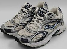 Saucony Grid Cohesion 3 Womens Ladies White Blue Running Walking Shoes Size 6