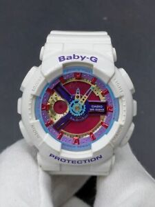 C asio Baby-G BA-112-7A Multicolor Dial White Analog-Digital Watch