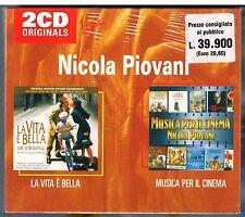 NICOLA PIOVANI MUSICA PER IL CINEMA - LA VITA E' BELLA BOX 2 CD F.C. SIGILLATO!!