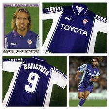 Fiorentina Maglia Casa Toyota 1999 2000 Serie A Jersey Home BATISTUTA 9 M