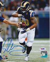 Todd Gurley Signed 8x10 St. Louis Rams Photo - Handoff Run PSA/DNA COA