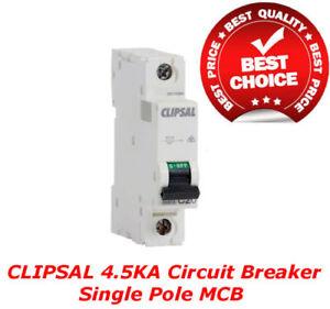 Clipsal 4.5Ka 10A 16A 20A 25A 32A 40A 50A 63A Circuit Breaker Single Pole MCB