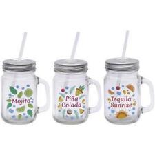 Cocktail Recipe Tankard. Glass Jar Party Novelty BBQ Gift Present