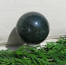 Green Moss Agate Solid Gemstone Sphere - 40mm Diameter Complete with Stand