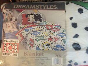 Vintage 90's Dreamstyles by Bibb 101 Dalmatians Blanket Sealed Original Package