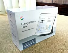 NEW. SHRINKWRAPPED. CHARCOAL. Google Home Nest Hub (GA00515-US)