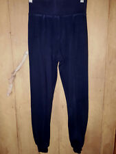 SUPRE Black Cotton Crop Legging Pants with cuff Wide Waistband Size XXS 6 GUC