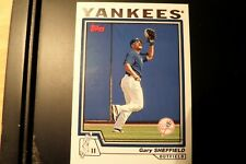 2004 topps rare Gary Sheffield 11 outfield Yankees baseball card