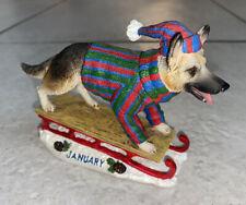 New ListingDanbury Mint Perpetual Calendar Dog Lover German Shepherd January Super Rare