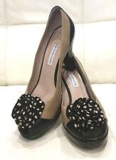 Just Gorgeous L'AUTRE CHOSE 40s inspired leather peep toe pumps - Sz 41