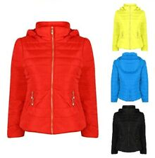New Ladies Womens Girls Petite Quilted Jacket Hooded Casual Winter Coat