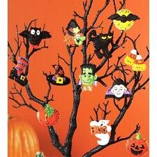 Halloween Felt Ornament Kit  Set of 12 HALLOWEEN ORNAMENTS NEW!