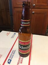 Vintage Schmidt's  Rare Red Label 12 oz. Glass Beer Bottle