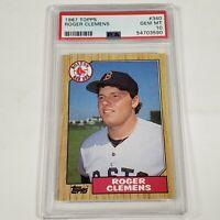 1987 Topps Roger Clemens Boston Red Sox #340 PSA 10 Gem Mint