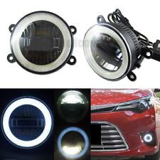 "3-in-1 High Power 3.5"" LED Fog DRL Light with COB Halo Angel Eye Rings For Cars"