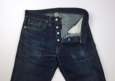 RRL Mens Straight Leg Selvedge Denim Blue Jeans Size 28 30 X 30 $300 USA