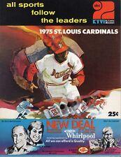 1975 Baseball program Montreal Expos @ St. Louis Cardinals, partly scored ~ Gd