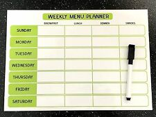A4 Fully Magnetic Weekly Meal Planner with FREE dry erase magnetic pen!