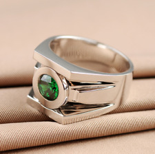 Green Lantern Rings Men Superhero Real 925 Sterling Silver Ring Jewelry- Unisex