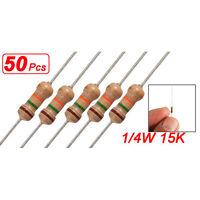50 x 1/4W 250V 1.5K ohm 1K5 Axial Carbon Film Resistors HY