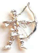 Robin Hood Archer Silver Plated Lapel Pin Badge