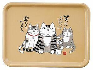 Miyamoto Sangyo Kabamaru Hajime Okamoto Obon Square Tray 26.5 × 36 × 1.5cm