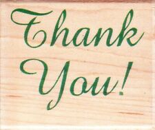 THANK YOU (1521) - Wood Mounted Rubber Stamp - Hampton Art / diffusion