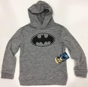 DC Comics Batman Hooded Pullover Sweatshirt Boys Sz 6 *NEW With Tag*