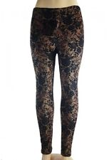 Women Warm Winter Knit Leggings Xmas Tight Fleece Stretch Pants L/XL #6